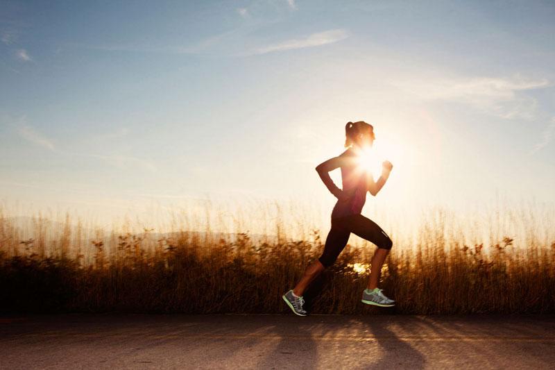 sport corsa raggio sole